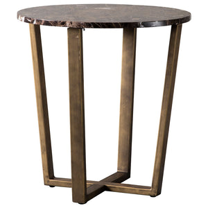 The Brown Marble Round Dining Table