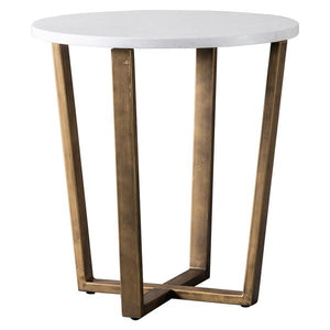 The White Marble Side Table