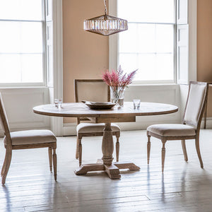 Colonial Round Dining Table with 3 Dining Chairs