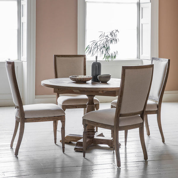 The Colonial Round Extending Dining Table  Set