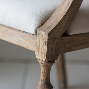 Close-up of Mindy Wood used on Colonial Arm Chair