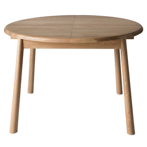 The Bergen Round Extending Dining Table - not-extended