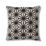 Monochrome geometric cushion