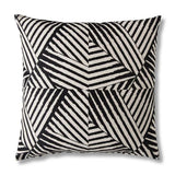 Monochrome geometric floor cushion