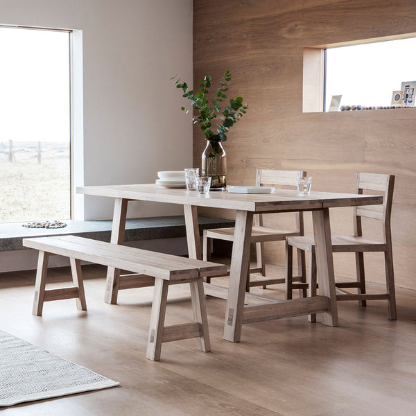 Serenity Oak Dining Table Set