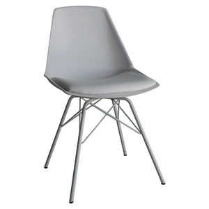 The Contemporary Dining Chair in Grey (4pk) cut out