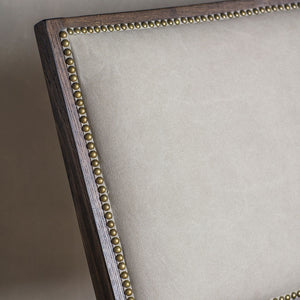 The Stone Washed Bermondsey Chair back rest detailing with studs