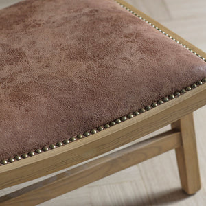 The Tan Bermondsey Chair seat detailing with studs