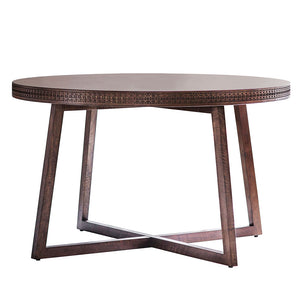 The Chic Brown Round Dining Table (1.2m)