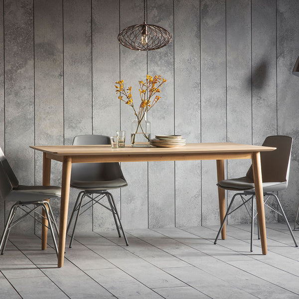 The Modern Light Oak Dining Table Set (1.6m)