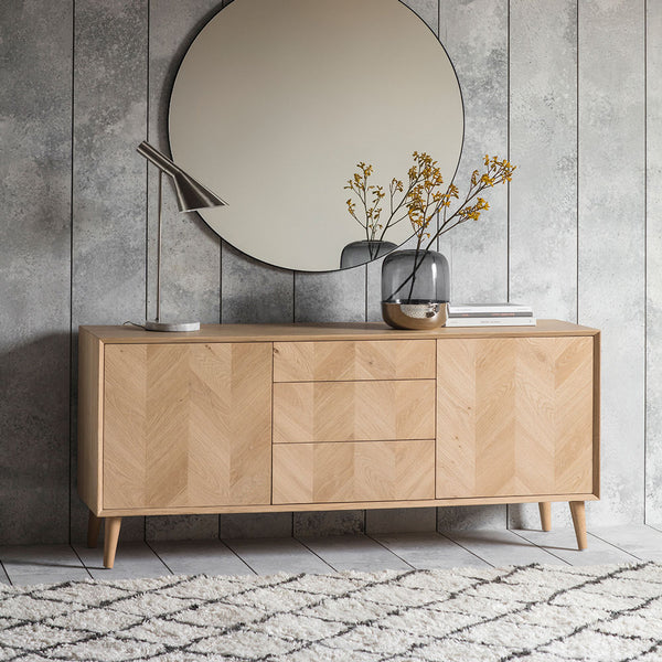 The Modern Light Oak 2 Door / 3 Drawer Sideboard