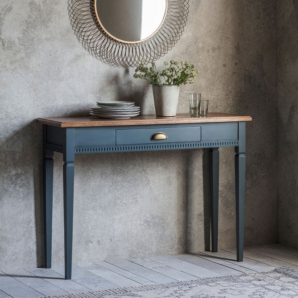 The Atlantic 1 drawer console table Blue Grey