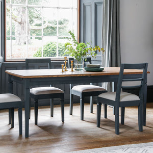 The Atlantic Extending dining Table & Chairs Blue Grey