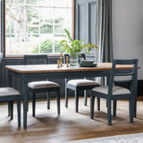 The Atlantic Extending Dining Table Set - Blue Grey (1.86/2.36m)