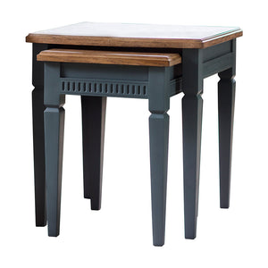 The Atlantic Nest Of 2 Tables Blue Grey