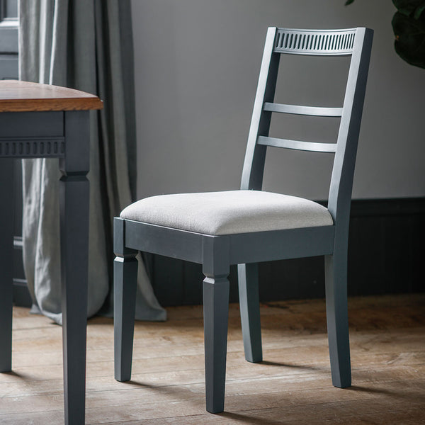 The Atlantic dining chair (2pk) - Blue Grey