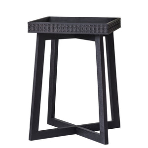 Chic Black Side table on white background