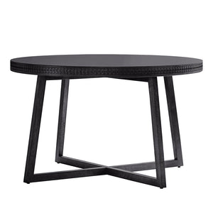 Chic Black Round Dining Table