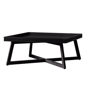 Chic Black coffee table on white background
