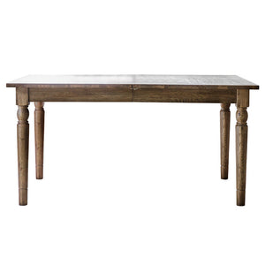 Rural Extending Oak Dining Table Set in Smokey Oak side view