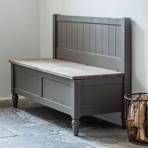 The Rural Hall Bench Slate Grey