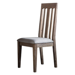 The Rural Dining Chair in Smokey Oak angle view
