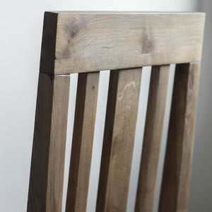 Close-up of Rural Dining Chair in Smokey oak