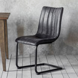 The Edwards Dining Chair in Charcoal (2pk)