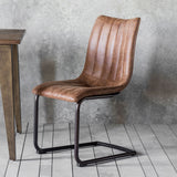 The Edwards Dining Chair in Brown (2pk)