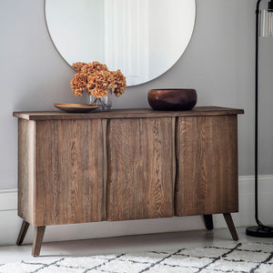 Chiswick Oak Sideboard with plant