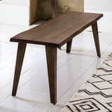 Chiswick Oak Dining Bench and rug