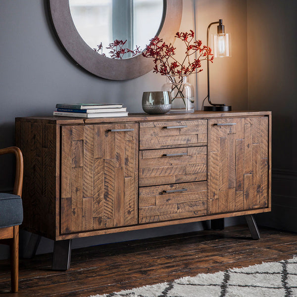 The Loft Sideboard with lamp and vase