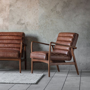 The Leather Armchair in Antique Brown