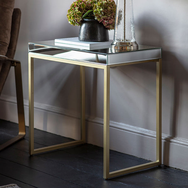 The Designer Side Table in Champagne