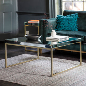 The Designer Coffee Table in Champagne with ornaments