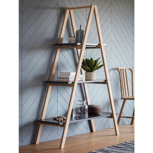 The Ruskin A Frame Shelving Unit with ornaments