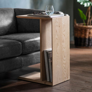 Modern Light Oak Alternative Side Table