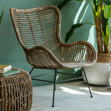 Scandi Lounger Rattan Chair