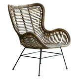 Scandi Lounger Rattan Chair cut out