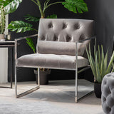 The Grey Velvet Armchair