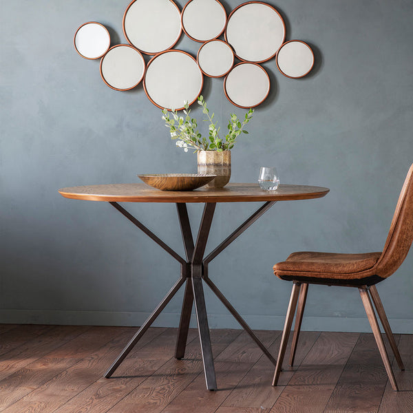The Balham Round Dining Table with chair