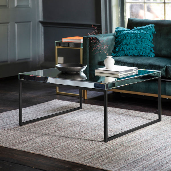 The Designer Coffee Table in Black with ornamnets