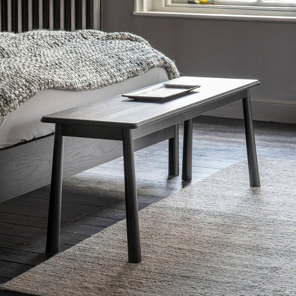 The Bergen Dining Bench in Black