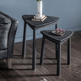 The Bergen Nest of 2 Side Tables in Black