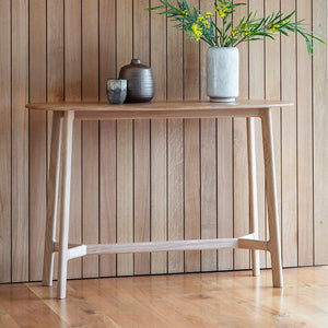 Barcelona Console Table with potted plant