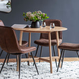 Barcelona Round Dining Table with dining chairs
