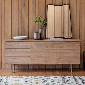 Barcelona 2 Door 3 Drawer Sideboard with ornaments