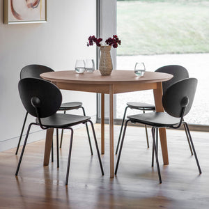 Matte Oak Round Dining Table Natural Grey (1.1m)