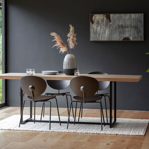 Matte Oak Dining Table Large Grey (2m)