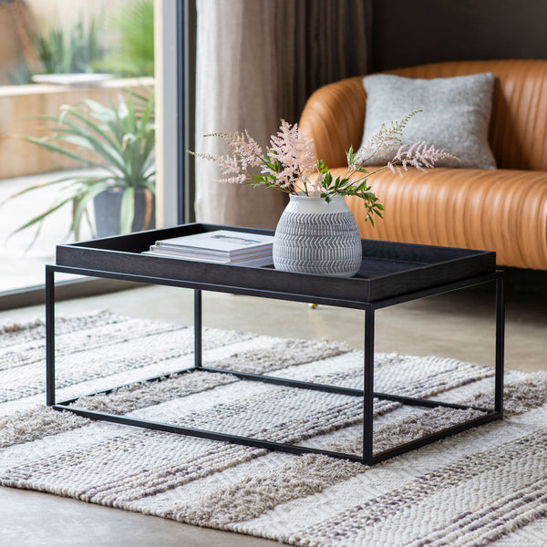 Matte Oak Coffee Table Black